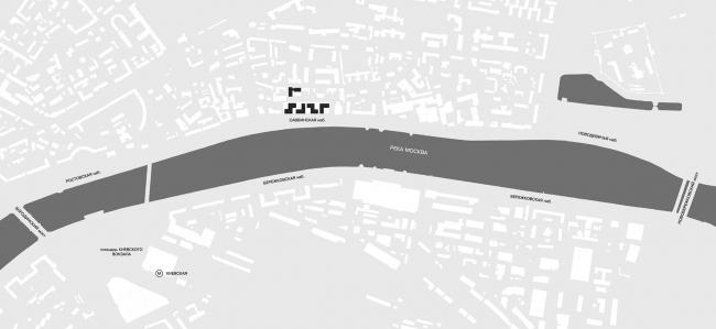 Конкурсный проект жилого комплекса на территории ОАО «Гардтекс». Ситуационный план