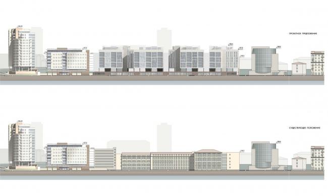Конкурсный проект жилого комплекса на территории ОАО «Гардтекс». Развертка