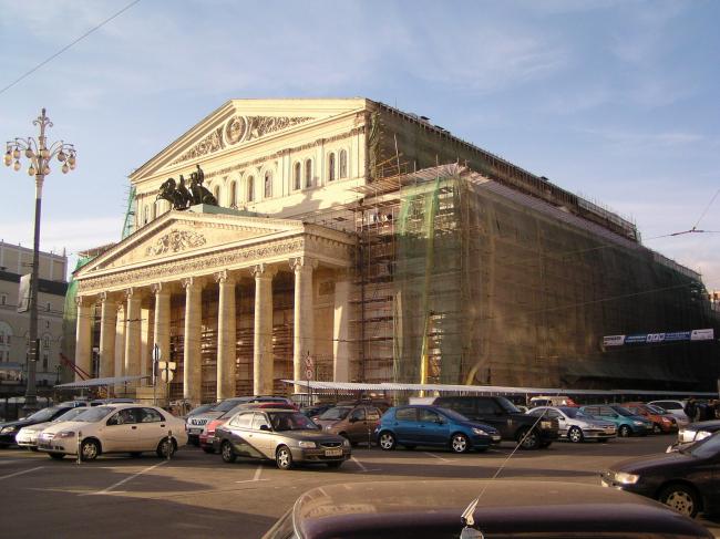 Большой театр в процессе реконструкции. Лето 2006