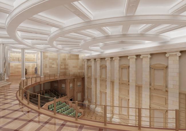 Подземная часть зрительской зоны Большого театра
