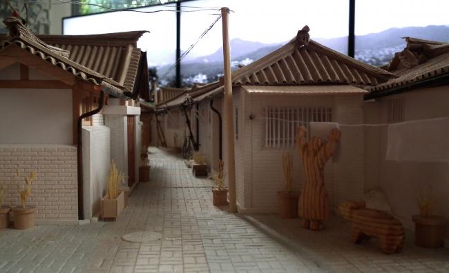Макет исторического квартала Чебу-донг 147-1. Очень симпатичный.