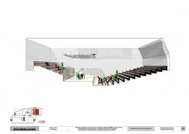 Предпроектное предложение по капитальному ремонту и реконструкции основного здания ГЦММК им. М.И.Глинки с пристройкой фондохранилища с реставрационными мастерскими и экспозиционно-выставочными и лекционно-концертными залами