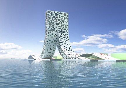 Бьярке Ингельс Груп, BIG. Народный дом, Шанхай, проект Визуализация © BIG