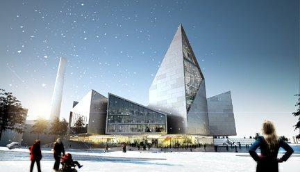 Проект Комплекса зданий мэрии, Таллинн, Эстония. Визуализация © BIG