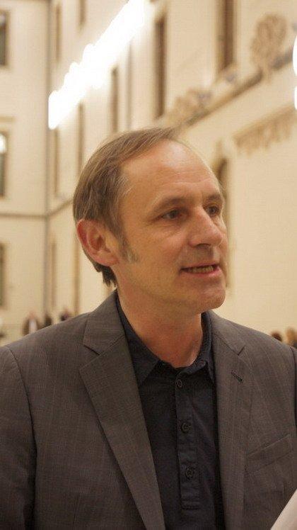 Фолькер Штааб, архитектор проекта реконструкции Музея Альбертинум в Дрездене. Фото Е. Гершкович