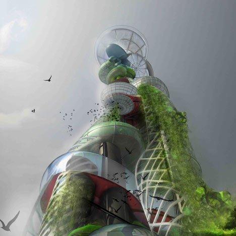«Башня из капель» Питера Кука и бюро CRAB
