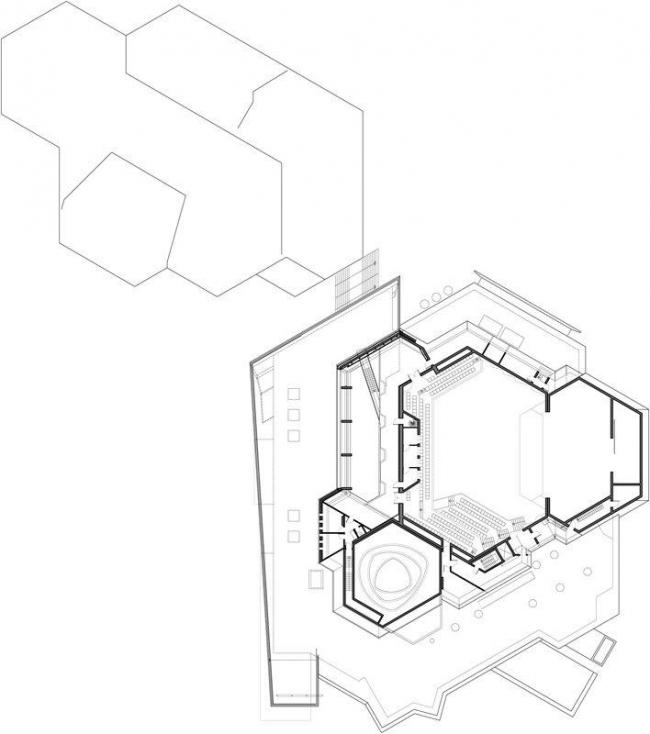 Центр культуры и конгрессов Штадтхалле Балинген – реконструкция. План галереи © 4a Architekten