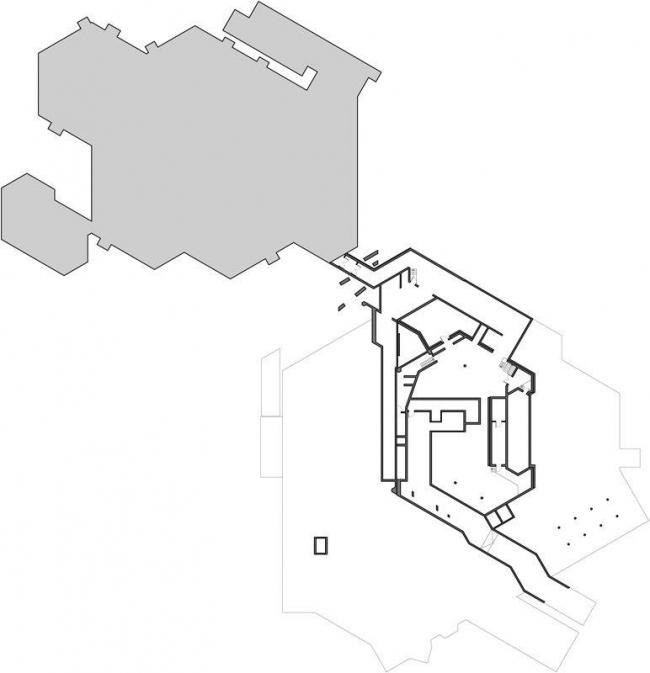 Центр культуры и конгрессов Штадтхалле Балинген – реконструкция. План подземного этажа © 4a Architekten