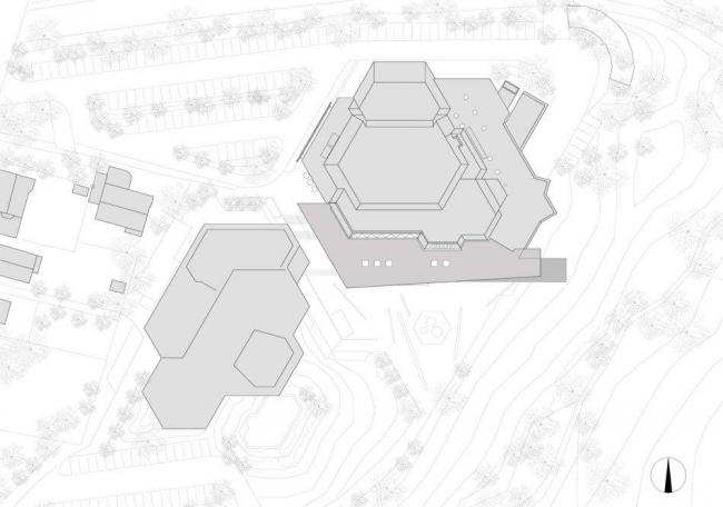 Центр культуры и конгрессов Штадтхалле Балинген – реконструкция. Ситуационный план © 4a Architekten