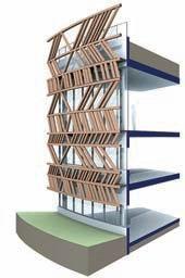 Алезия – музейный и археологический парк. Схема устройства стены информационного центра. Визуализация © Bernard Tschumi Architects