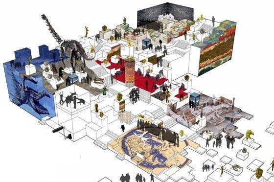 Национальный музей археологии и наук о Земле. Часть интерьера