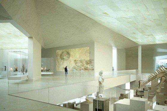 Национальный музей археологии и наук о Земле. Интерьер