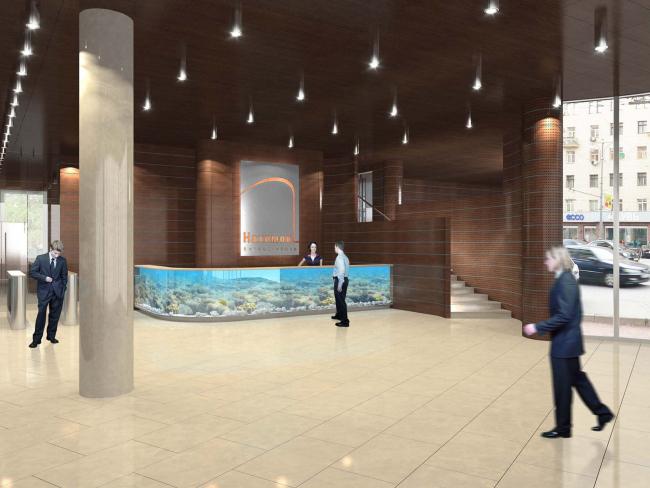 Общественно-административное здание с офисными помещениями. Проект, 2010 © Архитектурная мастерская Павла Андреева