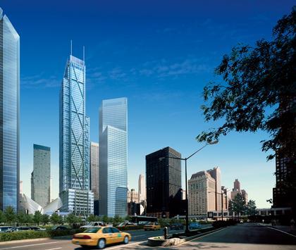 Центр Мировой Торговли: общий вид с башнями 2, 3,4