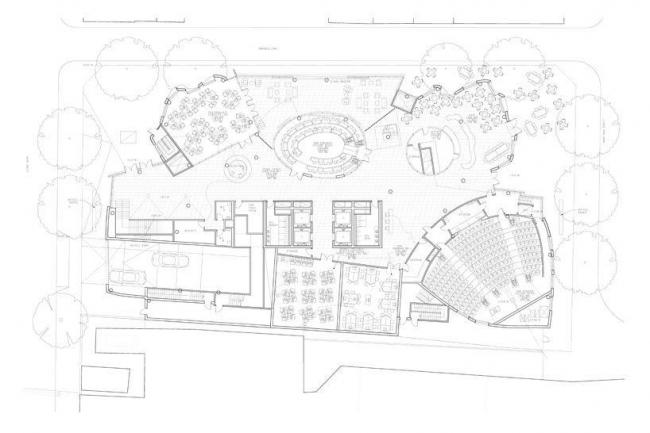Корпус Чау Чака Винга Сиднейского технологического университета. План 1-го этажа