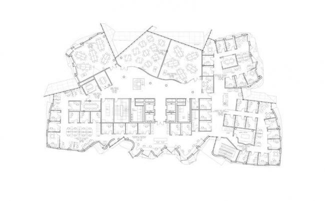 Корпус Чау Чака Винга Сиднейского технологического университета. План 3-го этажа