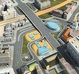 Проект реконструкции площади Белорусского вокзала. Фото с сайта www.izvestia.ru