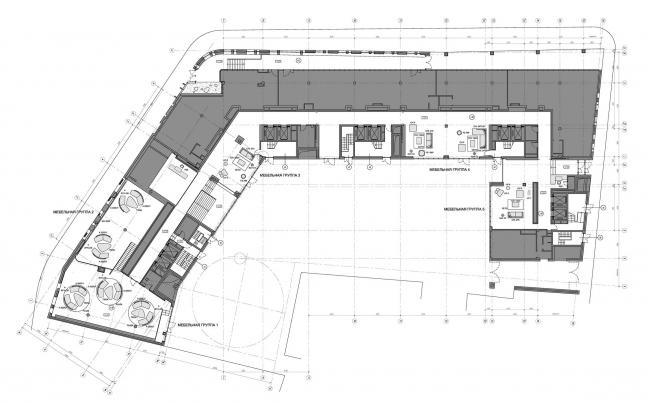 Интерьеры общественных зон жилого комплекса на Остоженке