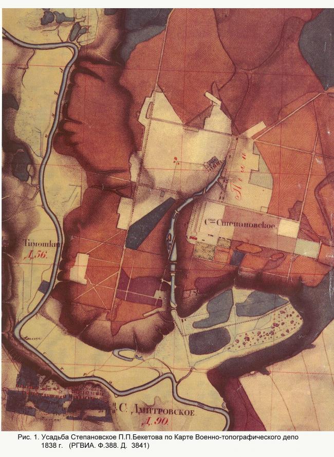 Cтепановкое, карта 1838 г.
