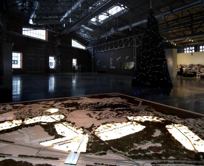 Генплан инновационного центра «Сколково», макет, © AREP. Выставка в «Гараже», декабрь 2010. Фотография Юлии Тарабариной