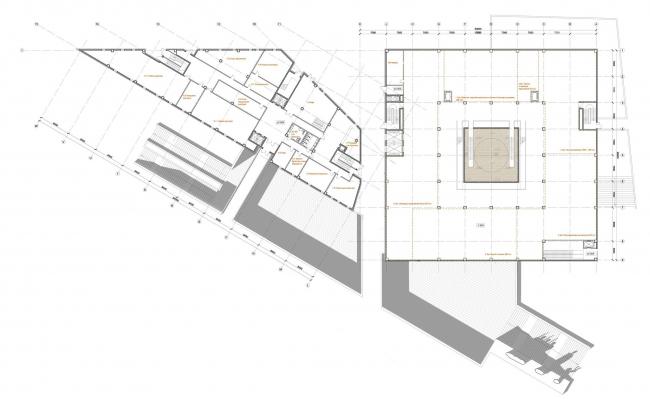 План на уровне первого этажа экспозиции