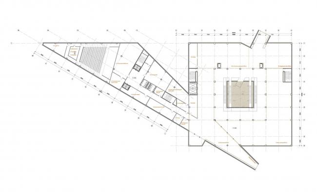План на уровне второго этажа экспозиции