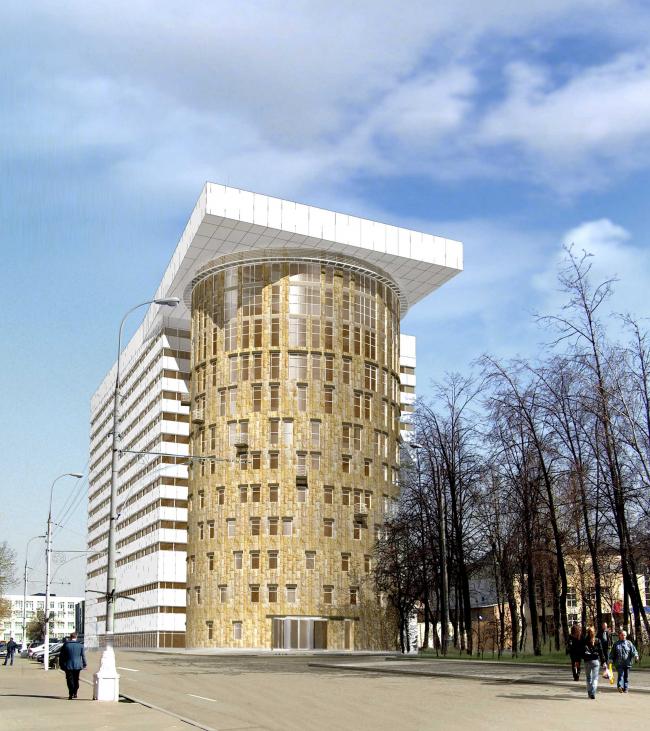 Гостиничный комплекс в 3-м Автозаводском проезде, 2 вариант (2010)
