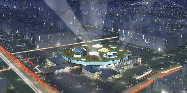 Эскизный проект Дворца творчества школьников в городе Астана. Арх.: «Студия 44»