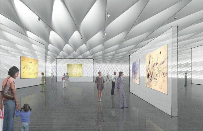 Музей Фонда искусств Броуд The Broad © Diller Scofidio + Renfro