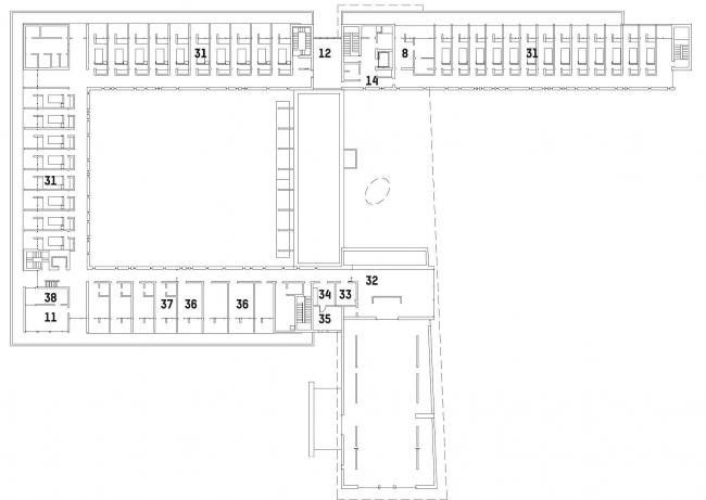 Аббатство Валь-Нотр-Дам. Второй этаж © Atelier Pierre Thibault