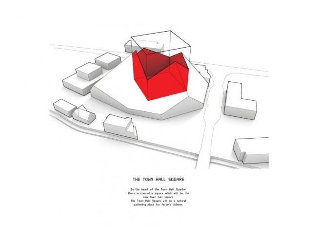 Квартал Ратуши Фёрде - концептуальный проект © BIG