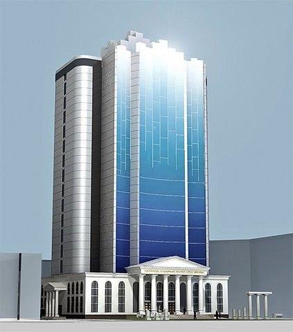 Областная научная библиотека Новосибирска. Проект «Н-ск Градострой 2002». Фото: http://community.livejournal.com/ru_architect/