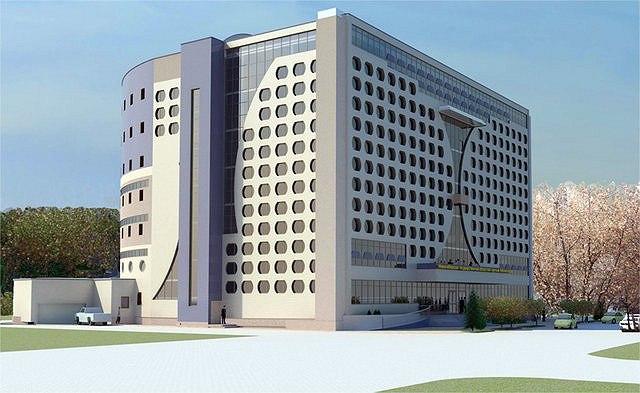 Областная научная библиотека Новосибирска. Проект «Сибторгпроект». Фото: http://community.livejournal.com/ru_architect/