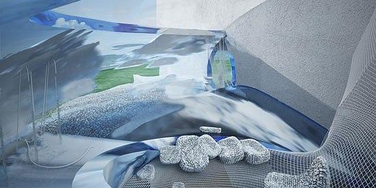 Частная вилла на берегу залива «Fly in the sky». Проект, 2009 © Архитектурная мастерская «НЕАРХИТЕКТОР»