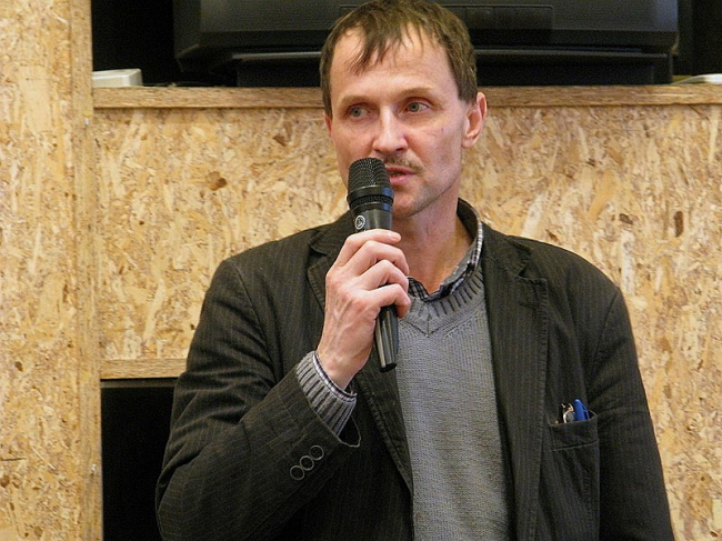 Петр Сорокин в Сахаровском центре. Фото: «Архнадзор»