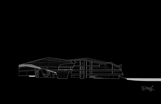 Штаб-квартира компании Giant Interactive Group. Разрез. Иллюстрация с сайта morphopedia.com