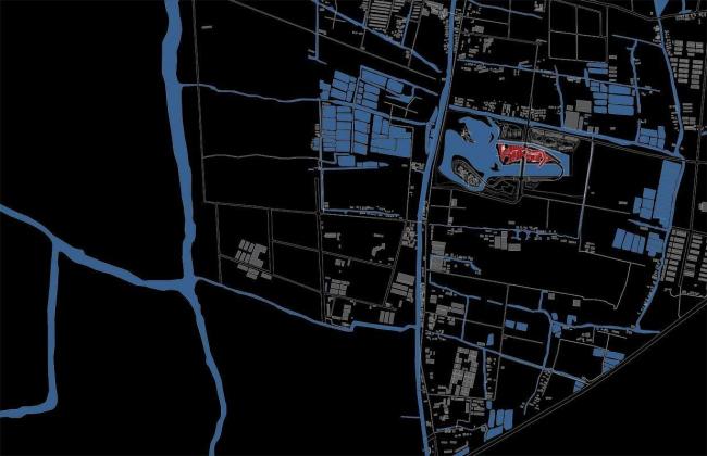 Штаб-квартира компании Giant Interactive Group. Ситуационный план. Иллюстрация с сайта morphopedia.com