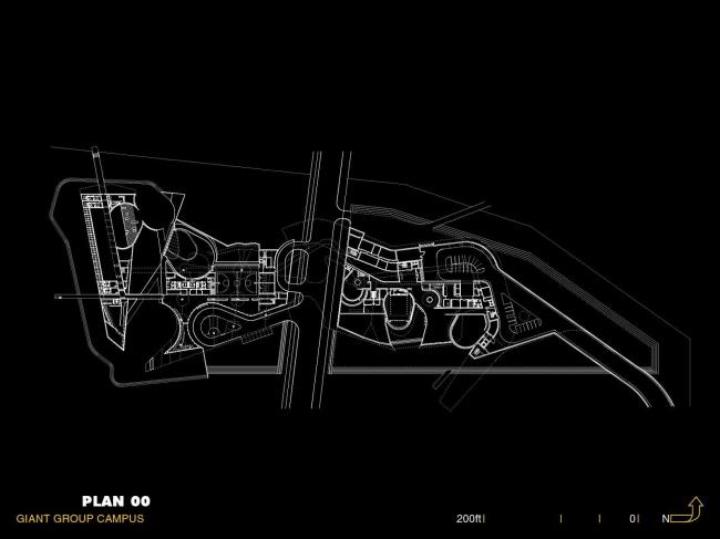 Штаб-квартира компании Giant Interactive Group. План нулевого уровня. Иллюстрация с сайта morphopedia.com