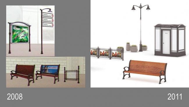 Сравнение, слева 2008 год, справа 2011
