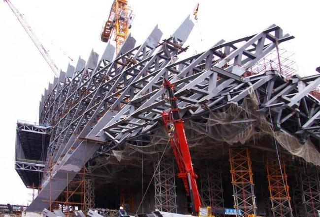 Даляньский международный конференц-центр в процессе строительства © Coop Himmelb(l)au