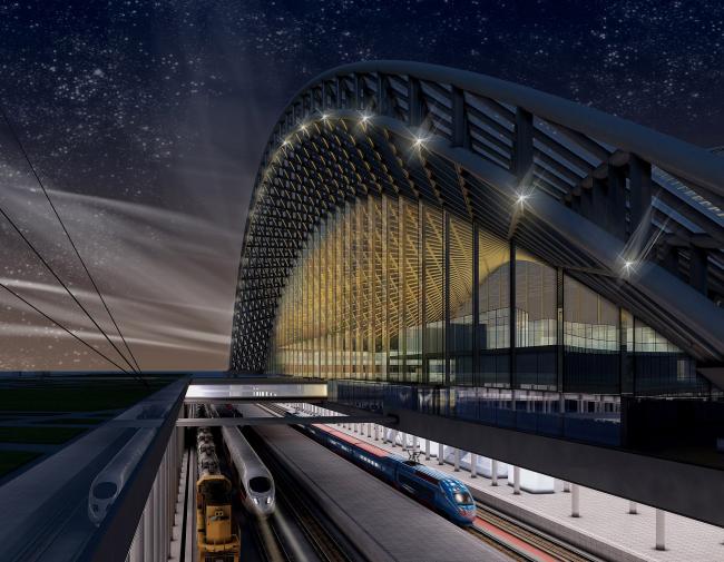Железнодорожный вокзал в Астане © Архитектурное бюро «Студия 44»