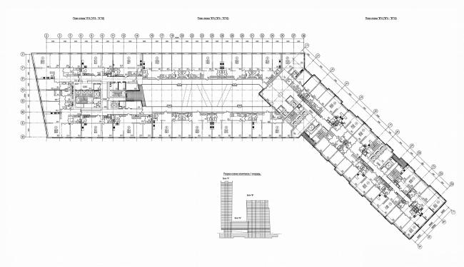 план на уровне 4 этажа - над стилобатом