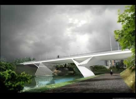 Мост Республики в Монпелье © Lamoureux&Ricciotti