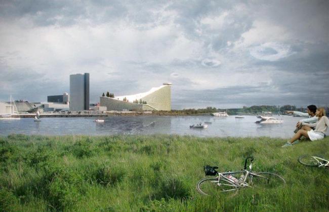 Мусороперерабатывающий завод и горнолыжный склон Amagerforbraending © BIG Archtects