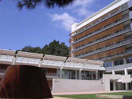 Центр искусств Эли и Эдит Брод. На первом плане слева - скульптура Ричарда Серра