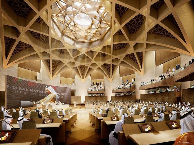 Здание Федерального Национального собрания - парламента ОАЭ © GAJ and bioLINIA