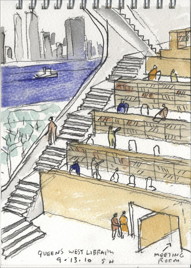 Библиотека района Хантерс-Поинт © Steven Holl Architects