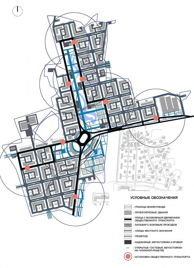 Схема транспорта и пешехода