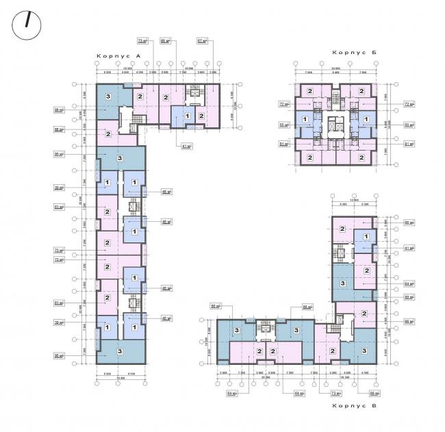 Схема квартальной застройки (типовой этаж)
