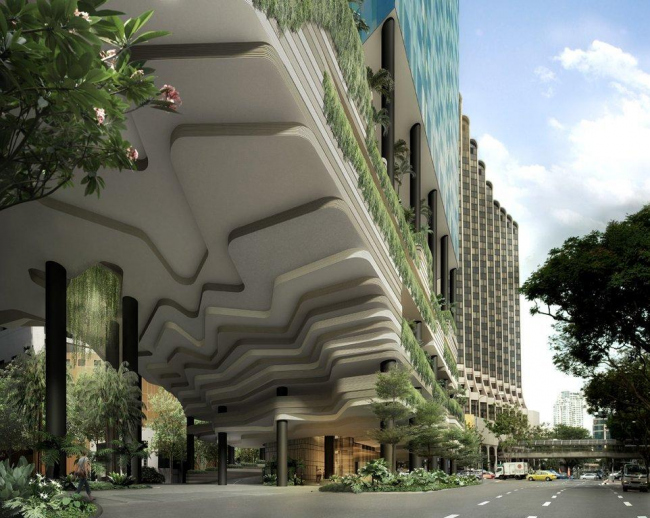 Отель Vertical Park, Сингапур, бюро WOHA © WOHA, источник изображения openbuildings.com